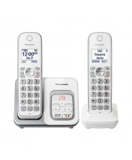 Panasonic 2-Handset Expandable Cordless Phone with Call Block and Answering Machine