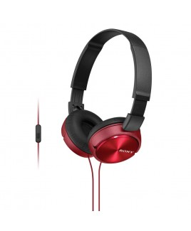 Sony MDR-ZX310AP/W Lightweight, Folding Stereo Headset (Red)
