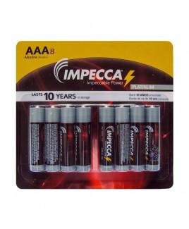 IMPECCA Alkaline AAA LR03 Platinum Batteries 8-Pack