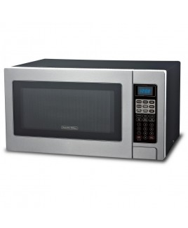 Proctor Silex 1000W 1.3 CU.FT. Microwave Oven with Touch Pad Controls, Stainless Steel Front