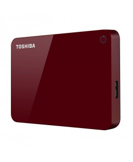 Toshiba 2TB Canvio Advance USB 3.0 Portable Hard Drive, Red