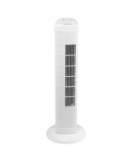 Sharper Image 30 Inch Oscillating 3-Speed Tower Fan, White