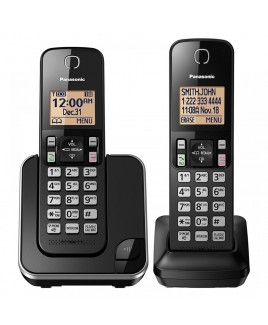 Panasonic DECT 2-Handset Expandable Caller ID Cordless Phone