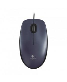Logitech Full-size Corded USB Optical Mouse M90, Black