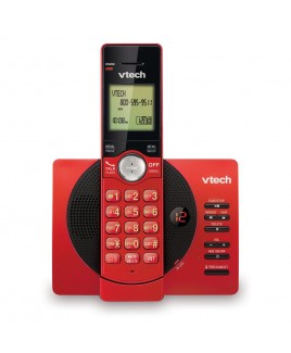 Vtech DECT6.0 Cordless Answering System with Caller ID/Call Waiting, Red/Black
