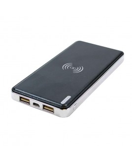 Craig QI Wireless 4000 mAh 2.4A Power Bank with Dual USB Charging Ports & Flashlight