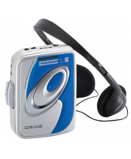 Craig Personal AM/FM Stereo Radio/Cassette Player with Headphones