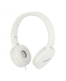 Magnavox Foldable Stereo Headphone with Microphone, White