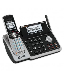 AT&T Dect 6.0 2-Line Cordless Phone with Answering System and Call Waiting Caller ID