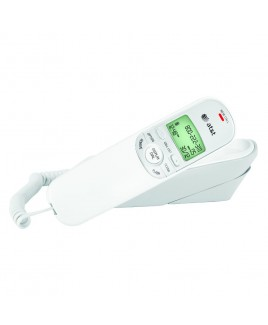 AT&T TR1909 Trimline Telephone with Call Waiting Caller ID White
