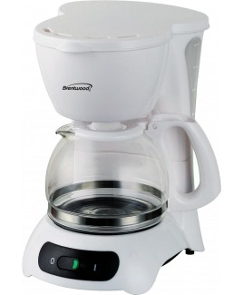 Brentwood TS-212 4-Cup Coffeemaker - White