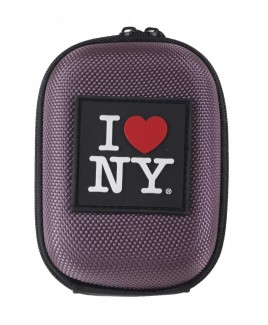 I Love NY DCS45 Compact Hardshell Camera Case - Purple