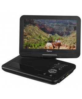 IMPECCA Portable DVD Player with 10.1 inch Swivel Screen - Jetblack Glaze