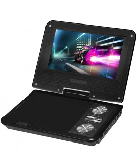 IMPECCA 7 Inch Swivel Portable DVD Player, Black