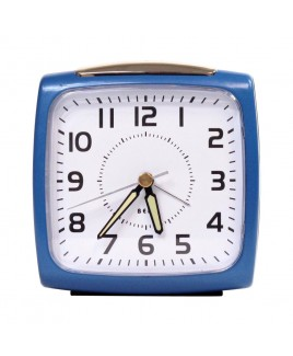 IMPECCA Bell Alarm Clock, Metallic Blue