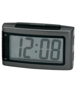 IMPECCA Battery Alarm Clock with Snooze - Grey