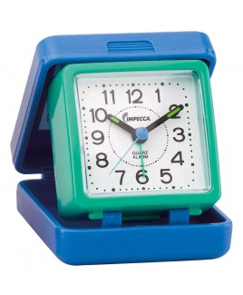 IMPECCA Travel Beep Alarm Clock, Blue/Green