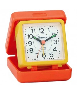 IMPECCA Travel Beep Alarm Clock, Orange/Yellow
