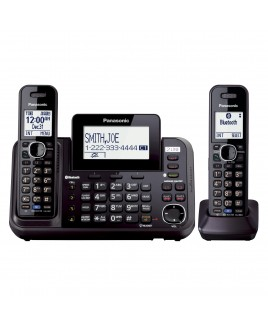 Panasonic Link2Cell Bluetooth 2-Line Phone with Answering Machine 2-Cordless Handsets