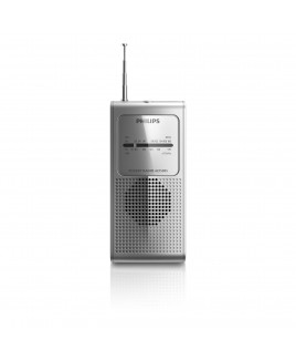 Philips Pocket Size Portable Radio - Silver