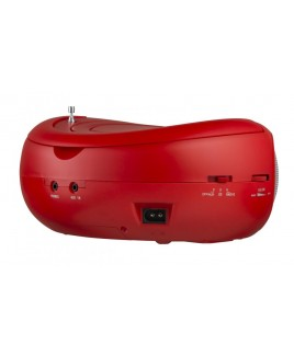 Riptunes Top Loading CD Boombox - Red