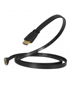 ZuumMedia 3 Foot Flat High Speed W/Ethernet Certified HDMI Cable