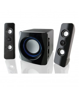 iLive Wireless Bluetooth 2.1 Speaker System with Subwoofer, Black