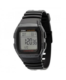 Casio W96H-1 Multi-function Alarm with Snooze Calendar LED Light w/Afterglow 50M WR