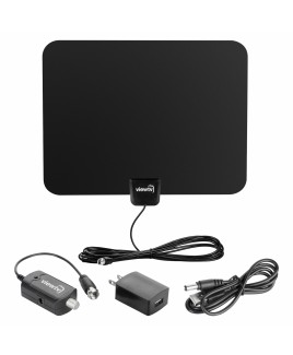viewtv 60 Mile Ultra-Thin Flat Digital Indoor Amplified HDTV Antenna
