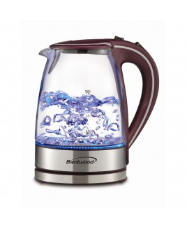 Brentwood 1.7L Tempered Glass Tea Kettle - Purple
