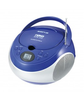 Naxa Portable MP3/CD Player with AM/FM Stereo Radio and AUX-in, Blue
