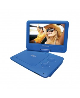 Sylvania Portable DVD Player with 9 Inch Widescreen Swivel Display, Blue