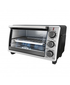 Black & Decker 6-Slice Convection Oven, Stainless Steel & Metallic Accents