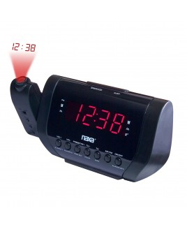 Naxa Projection Dual AM/FM Alarm Clock