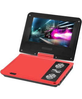 IMPECCA 7 Inch Swivel Portable DVD Player, Red