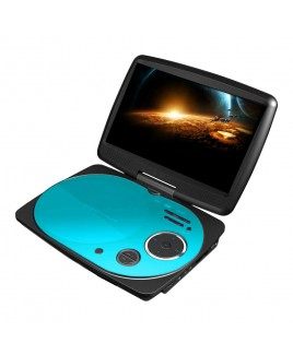 IMPECCA 9 Inch Swivel Portable DVD Player, Teal