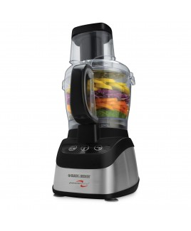 Black & Decker Wide-Mouth 8-Cup Food Processor, Stainless & Black
