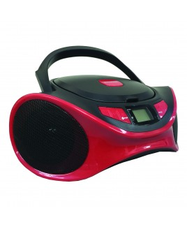 Sylvania Bluetooth Portable CD AM/FM Radio Boombox - Red
