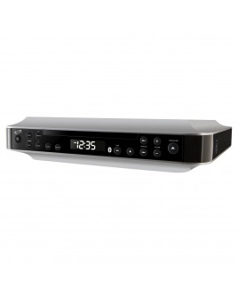 iLive Wireless Bluetooth Under Cabinet CD Music System with FM Radio, Kitchen Timer, and AUX-in
