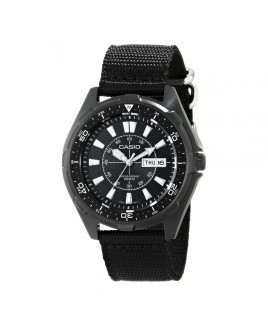 Casio Men's Classic Stainless Steel Watch With Black Nylon Band