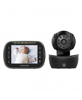 Motorola Remote Wireless Two-Way Communication Video Baby Monitor - Brown Box