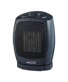 Brentwood Ceramic Oscillating Heater/Fan, Black