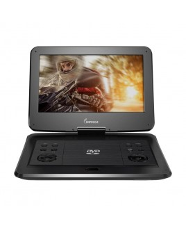 IMPECCA Portable DVD Player with 13.3-inch 180-degree Widescreen LCD, Jetblack Glaze
