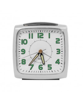 IMPECCA Bell Alarm Clock, Metallic White
