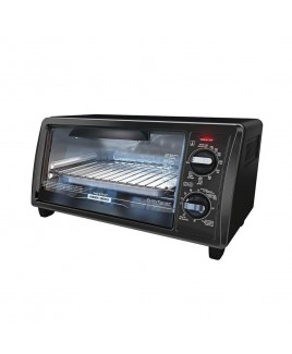 Black & Decker 4-Slice Toaster Oven, Black