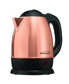 Brentwood 1.2 Liter Rose Gold Electric Stainless Steel Kettle