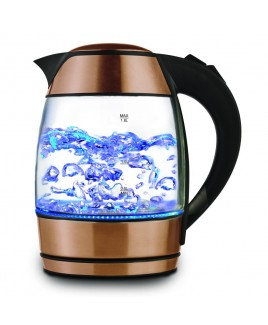 Brentwood 1.8 Liter Electric Glass Kettle with Tea Infuser, Rose Gold