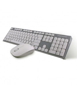 IMPECCA Wireless Multimedia Keyboard and Mouse Combo, White