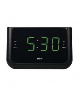 RCA Dual Wake USB Charging Clock Radio