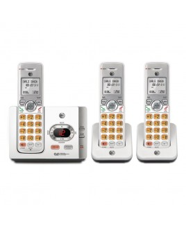 AT&T 3-Handset Expandable Cordless Phone with Answering System and Caller ID, Silver/Black